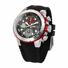 NEW STRUMENTO MARINO MEN'S SAINT TROPEZ CHRONOGRAPH DIVE WATCH GREY/RED DIAL