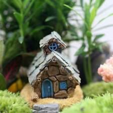 Stone House Fairy Garden Micro Cottage Landscape DIY Resin Miniature Craft AU