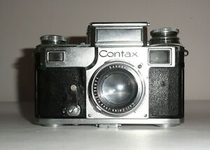 Zeiss Contax III w/ 5cm f 2.0 Sonnar Leather Case