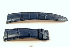Baume Mercier Deployant Clasp 22mm New Blue Leather Watch Band for