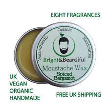 Strong Hold Moustache Wax, Organic, Vegan, Beard Wax, Tache Styling Wax 15ml