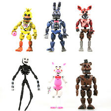 Five Nights at Freddy's Doll FNAF Action Bonnie Chica Foxy Bear Figures Set Toy