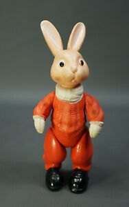 """1960 Soviet USSR Russian OHK Celluloid Doll Toy Character Snow Rabbit Bunny 8"""""""