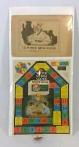 1940s White King Soap Vintage Board Game With Spinning Top Put On A Backer Board