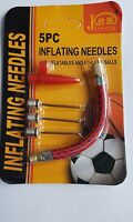 5 x Ball Inflating Pump Needles Plus Airbed Nozzle Plus Felixible Airhose UK