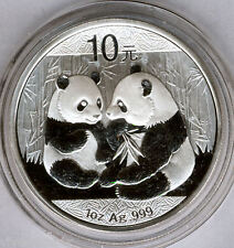 Chine 10 Yuan 2009 Ours Panda @ 1 Once Argent Pur @