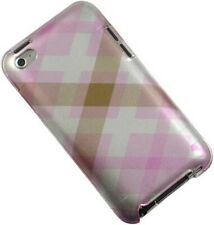 NEW PINK PASTEL ARGYLE CASE HARD COVER FOR APPLE iPOD TOUCH 4 4G 4TH GEN