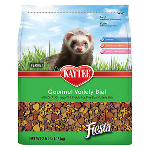 Kaytee Fiesta Gourmet Variety Diet with DHA Ferret Food, 2.5-lb bag Free Shippin