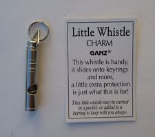 aa LITTLE WHISTLE pendant keyring CHARM security safety protection Ganz metal