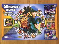 Marvel vs. Capcom 2 PS2 Dreamcast 2000 Print Ad/Poster Official Wolverine Art