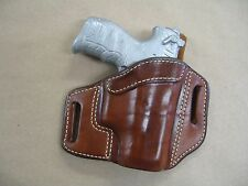 Walther P22 Pistol OWB Leather 2 Slot Molded Pancake Belt Holster CCW TAN RH
