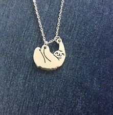 Sloth Pendant Necklace 925 Silver Womens Jewelry