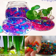 New listing 500x Rainbow Jelly Beads Water Plant Crystal Soil Mud Water Pearls Balls Decor