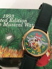 Disney Mickey Mouse Musical Watch Christmas 1993 Seasons Greetings Ltd Ed NIB