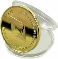 24k Gold Plated Ethereum ETH Crypto Collectible Novelty Coin