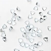 Wholesale Lot 9mm, 10mm & 11mm Trillion Cut Aquamarine Loose Calibrated Gemstone