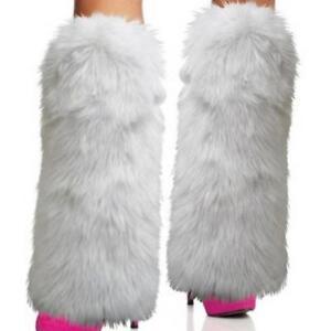 Winter Women's Faux Fur Furry Leg Warmers Boots Cuffs Toppers Leg Gaiters Socks