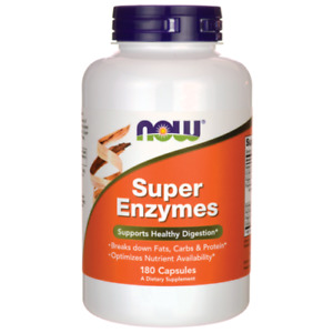 Now Foods Super Enzymes 180  Capsules For Healthy Digestion