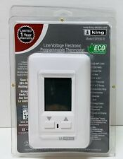 King ESP230-R Programmable Thermostat, White, Single Pole, 22 AMP/240V NEW!
