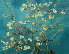 BLOSSOMING ALMOND TREE, Vincent Van Gogh Impressionism CANVAS PRINT 30x24 in.