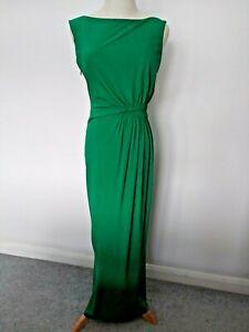 Issa London Green Silk Sleeveless Maxi Dress Size UK8