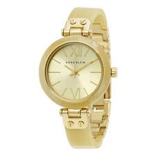 Anne Klein Gold Dial Gold-tone Horn Bangle Ladies Watch 10-9652CHHN