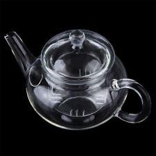 NEW 250ml Heat Resistan Glass Teapot With Infuser Coffee Tea Leaf Herbal Pot VB