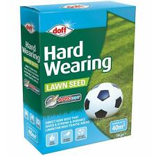 Doff Hard Wearing Durable Grass Lawn Seed, Procoat, Lush Green Up To 40m2 - 1kg
