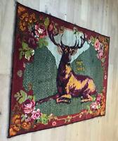"Antique Armenian Kharabakh Pictorial Deer Rug  4'8""x6'6"""