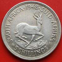 Süd Afrika-South Africa: 5 Shillings 1948 Silver, KM# 40, VZ-XF, #F 2800, TOP