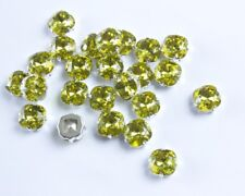 24 Swarovski Lime Color Sew On 10MM Fancy Square Rhinestones #4470