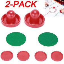 2 PACK 76mm Mini Air Hockey Pushers Table Goalies & 4pcs 50mm Pucks Felt Set NEW
