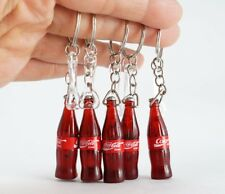 5 BOTTLES Coca-Cola COKE W/OPENER 4cm KEY CHAIN KEY RINGS COLLECTIBLE MINIATURE