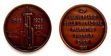 Medaglia 1665-1928-1959 40° Anniversario Della Liberazione Prarostino-Pinerolo-C