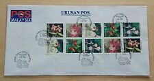 1997 Malaysia Highland Flower Booklet Stamp on Private FDC (Melaka Cachet) Lot B