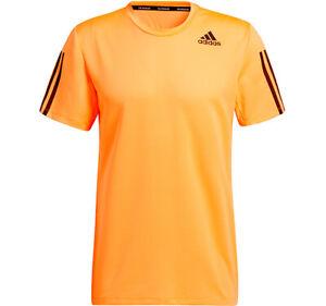 Adidas Aero 3S Tee Primeblue T-Shirts Orange Racket Outdoor Slim Fit NWT GQ2165