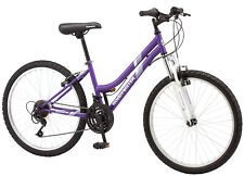 "Mountain Bike 24"" Roadmaster Granite Peak Purple Bicycle Cycling For Girls Women"