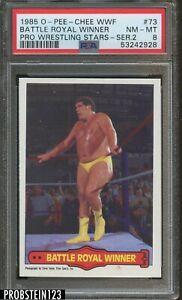 1985 O-PEE-CHEE OPC WWF Pro Wrestling Stars #73 Battle Royal Winner PSA 8 NM-MT