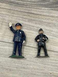 Lot of 2 Vintage Barclay Manoil Toy Figures Police Men Traffic PARTS
