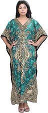 Vintage Women Kaftan Kimono Short Sleeve Robe Maxi Long Tunic Caftan Loose Dress