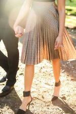 Knee-Length Polyester Polka Dot Hand-wash Only Skirts for Women