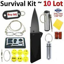 Credit Card Knives 11 in 1 Multi tools wallet thin pocket survival knife Lot Us
