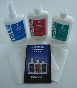Novus 1,2,3 Plastic Polish System, 3x 8oz, Kunststoff Politur