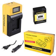 Batteria Patona + caricabatteria Synchron LCD USB per GoPro HD HERO 3,HD HERO 3+