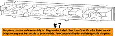 Jeep CHRYSLER OEM 14-16 Cherokee Bumper Face-Foam Impact Absorber Bar 68103024AB