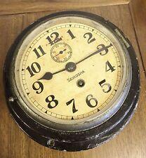 Vintage Maritime Seikosha Tokyo Japan Military Clock From WW II Japanese Ship