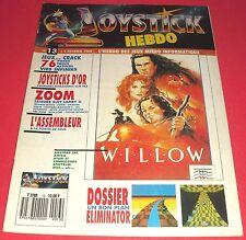 Magazine Joystick Hebdo [n°13 1 Fév 1989] Amstrad CPC Amiga Atari ST MSX *JRF