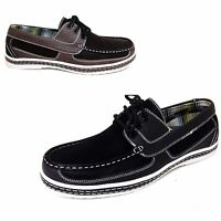 NIB Men's Casual Shoes Loafers Moccasins Lace-up Moc Toe Deck Boat Sneaker Sizes
