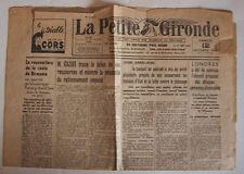 WW2 - JOURNAL OCCUPATION - LA PETITE GIRONDE du 12 octobre 1940