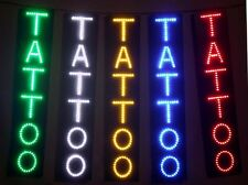 "NEW DELUXE TATTOO LED neon Sign Professional Quality 24""x5"" WHITE"